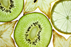 Kiwi, Lemon and Starfruit Stock Image