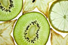 Kiwi, limón y Starfruit imagen de archivo
