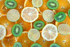 Kiwi, lime, lemon, orange Stock Image