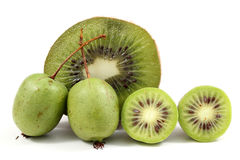 Kiwi and little kiwies Royalty Free Stock Image