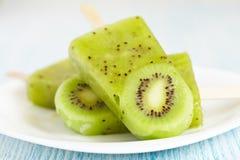 Kiwi lody Popsicle Obraz Stock