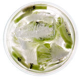 Kiwi in lowball glass Stock Image