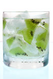 Kiwi in lowball glass Stock Photo
