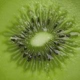 Kiwi, macro - green fruit Stock Image