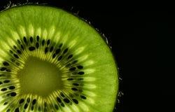 Kiwi makro- dla jedzenia i napoju kochanków Fotografia Stock