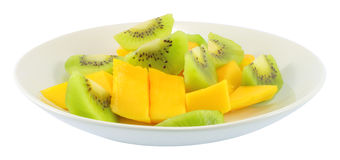 Kiwi and mango fruit Stock Photography
