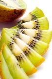 Kiwi maturo affettato Fotografia Stock