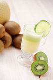 Kiwi and melon juice Royalty Free Stock Image