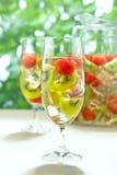 Kiwi Melon white Sangria Royalty Free Stock Images