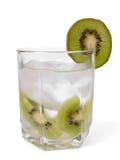 Kiwi met ijs in glas Royalty-vrije Stock Afbeelding