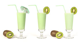 Kiwi milk shake Royalty Free Stock Photos