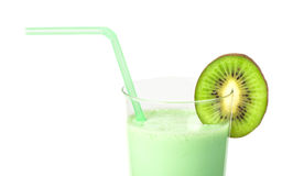 Kiwi milk shake Stock Photos