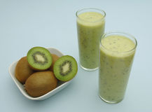 Kiwi milkshake Royalty Free Stock Photography