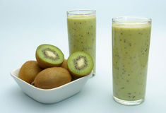 Kiwi milkshake royalty free stock images