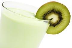 Kiwi milkshake with a blade of kiwifruit Royalty Free Stock Photos