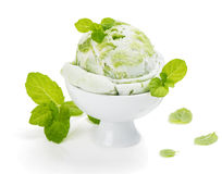 Kiwi or Mint Ice Cream Royalty Free Stock Photography