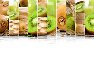 Kiwi Mix Stripes Fotografia Stock