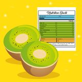 Kiwi with nutrition facts. Vector illustration design Stock Photography