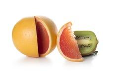 Kiwi och grapefrukt Arkivfoton
