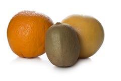 Kiwi och grapefrukt Royaltyfri Fotografi
