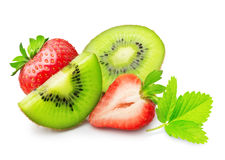 Kiwi och jordgubbe royaltyfri fotografi