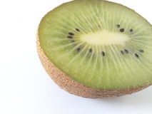Kiwi op een witte achtergrond Royalty-vrije Stock Afbeeldingen