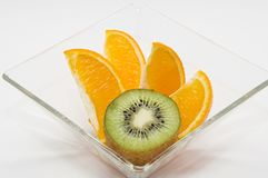 Kiwi and orange Stock Images