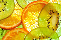 Kiwi and  Orange Royalty Free Stock Photo