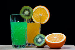 Kiwi orange drink Stock Photo