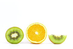 Kiwi and orange Stock Photography