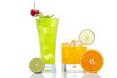 Kiwi and orange juice Stock Images