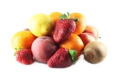 Kiwi, orange, peach, strawberry Stock Photography