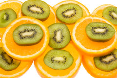 Kiwi and orange slices Royalty Free Stock Photography