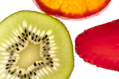 Kiwi orange strawberry white diet Stock Photo