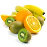 Kiwi, Oranges And Bananas Royalty Free Stock Photography