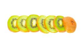Kiwi owoc ścinku odosobniona ścieżka Obraz Royalty Free