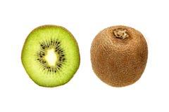 Kiwi owoc cała i w połówce Zdjęcie Stock