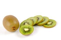 Kiwi owoc, Chiński agrest (Actinidia chinensis). Obrazy Stock