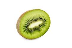Kiwi owoc i jego pokrojeni segmenty odizolowywający na białym tle Zdjęcie Stock