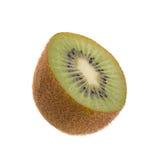 Kiwi owoc i kiwi pokrajać odosobnionego na białym tle Obrazy Royalty Free