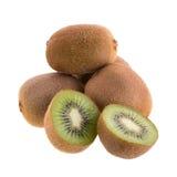 Kiwi owoc i kiwi pokrajać odosobnionego na białym tle Obraz Royalty Free