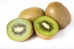 Kiwi owoc na bielu Obrazy Royalty Free