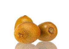 Kiwi owoc odizolowywająca na białym tle Zdjęcia Stock