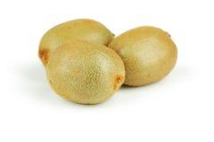 Kiwi owoc odizolowywająca na bielu Zdjęcia Stock