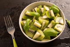Kiwi owoc pokrajać Obraz Stock