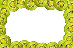Kiwi owoc rama Zdjęcia Royalty Free