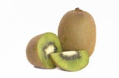Kiwi owoc wewnątrz odizolowywa białego tło Obraz Royalty Free