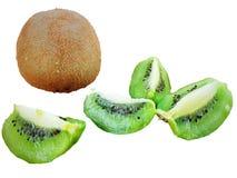 Kiwi owoc z pokrojoną zieloną kiwi owoc fotografia stock