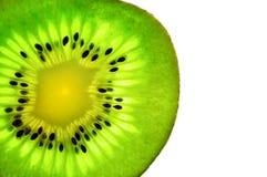 Kiwi owoc zakończenie Plasterek kiwi obraz stock