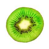 Kiwi owoc zakończenie Plasterek kiwi obrazy stock